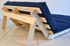 Astounding Cool Tips: Futon Chair Guest Rooms futon chair guest rooms. Sofa Futon, Futon Bedroom, Futon Mattress, Sleeper Sofas, Wooden Pallet Furniture, Furniture Plans, Furniture Design, Diy Sofa, Minimalist Bedroom