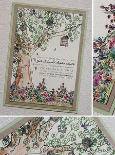 Screen Capture Cc820 Secret Garden Theme Green And Purple Wedding Invitations The