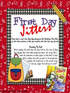 """FREE SAMPLE from my best selling unit: """"First Day Jitters: Back-To-School Packet for the first few weeks of school."""""""