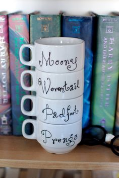 The Marauders Stacking Mug Set | Community Post: The 30 Most Perfect Gifts For Your Biggest Harry Potter Friends This Holiday Season