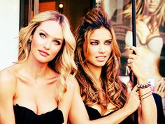 VS models Candice Swanepoel & Adriana Lima want her hair