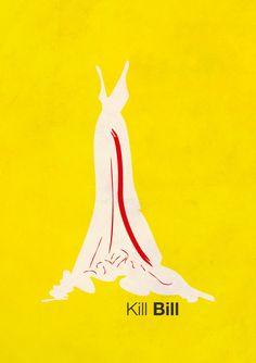 Kill Bill: Vol. 1 (2003) ~ Minimal Movie Poster by Sandra Hillebrand #amusementphile