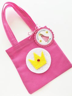 Set of 12 Princess Peach Bags with Personalized Thank You Tags, Princess Peach, Mario Favor Bags, Mario Bags, Mario Party, Mario Birthday by SalomeCrafts on Etsy https://www.etsy.com/listing/260427843/set-of-12-princess-peach-bags-with
