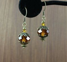 Amber crystal earrings Outlander inspired by KLFStudio on Etsy Outlander Gifts, Crystal Earrings, Drop Earrings, Amber Crystal, Inspired, Crystals, Trending Outfits, Unique Jewelry, Handmade Gifts