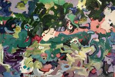"""THICKET  24"""" x 36""""  acrylics/canvas"""