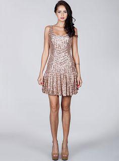 bcbaa8192b8bc0 Speakeasy Siren Deco Sequined Flapper Dress