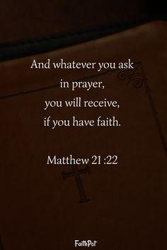 If you have faith...