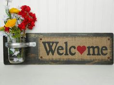 Welcome with jar Flower bass