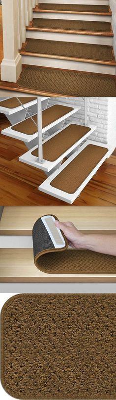 Stair Treads 175517: Set Of 12 Tape Down Carpet Stair Treads Bronze Gold  Runner