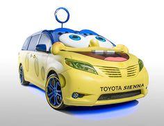 The SpongeBob Toyota Sienna is Fanatically Designed and Awesome #spongebob #cars trendhunter.com