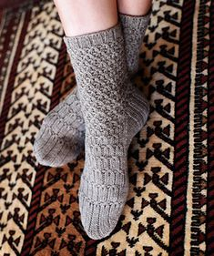 Updated, expanded, and finally back in print, this delightful new edition of Silk Road Socks features sixteen intricate patterns inspired by oriental rugs. Knitting Stitches, Knitting Socks, Knitting Patterns, Knitting Ideas, Wool Socks, Silk Road, Stitch Patterns, Knit Crochet, Stockings