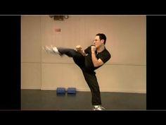 Taekwondo Round Kick Tutorial Training to keep your guard while kicking Roundhouse Kick, Krav Maga, Taekwondo, Karate, Martial Arts, Kicks, Training, Youtube, Work Outs
