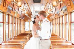 trolley wedding portraits ybor