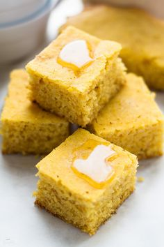 Butternut squash cornbread is so EASY to make in the slow cooker. Soft, moist & flavorful. Goes perfectly with everything from chili, stew, & roast chicken