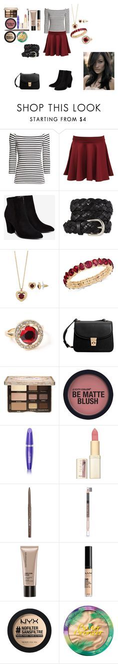 """Fashion Collage #28"" by wynonnamaree ❤ liked on Polyvore featuring H&M, Pilot, Billini, L.L.Bean, Napier, Charter Club, Miss Selfridge, MANGO, Too Faced Cosmetics and Max Factor"
