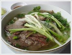 Pho is a tradition soup with meat a noodles originated out of the north of Vietnam in the capital city Hanoi