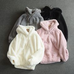 Womens Girl Fleece Loose Sweatshirt Soft Fluffy Hooded Hoodie Jacket Warm Coat | Clothing, Shoes & Accessories, Women's Clothing, Coats & Jackets | eBay!
