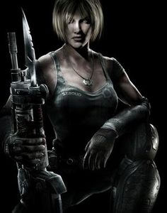 Beautiful Anya Stroud from Gears of War 3. (how does she keep her hair so perfect and shiny? lol)