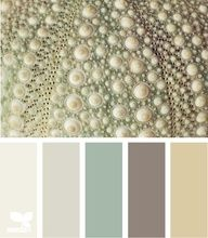 This palette would create such a calming vibe in a bedroom....I would paint most of the walls the cream color at the end and paint an accent wall with the smoky purple color. Bed covering in the very soft, pale purple-gray and use the muted grey toned green for accent colors like throw pillows, vases, etc.