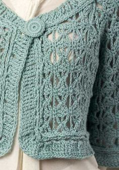 My comment on this: What a lovely item of clothing and I wish I had enough talent to make this.  One day when I am better at knitting and crochet I might try it. Free pattern S-3XL