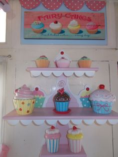 New Cupcake sign and SP shakers lower shelf Purple Kitchen Decor, Cupcake Kitchen Decor, Bakery Kitchen, Home Bakery, Kitchen Decor Themes, Candy Room, Cupcake Signs, Cupcake Illustration, Cupcake Boutique