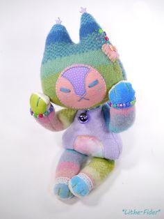 A sweet sweaterfox made custom for a client! Cute Stuffed Animals, Dinosaur Stuffed Animal, Cute Plush, Little Doll, Spoonflower Fabric, Plush Dolls, Clay Crafts, Plushies, Cute Art