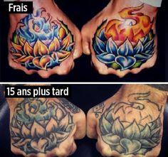 Vous voulez vous faire tatouer ? Ces 20 photos révèlent comment les tatouages changent au fil du temps