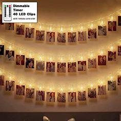 LED Lichterkette Außen Batterie 40 Fotoclips Innen mit Fernbedienung Outdoor Warmweiß Wasserfest - 12.99 - 4.9 von 5 Sternen - Lichterkette Herbst 2019