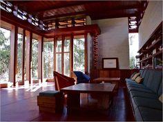 Frank Lloyd Wright. Usonian Style. Bachman-Wilson House. 1954. Millstone borough of New Jersey