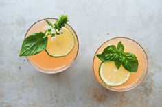 Lime-Grapefruit-Basil Gin Punch