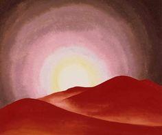 O'Keeffe Georgia - red hills