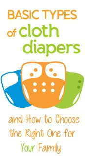 Basic Types of Cloth Diapers and How to Choose the Right One for Your Family