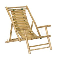 "Set of 2 Bamboo Recliners (Vietnam) | Overstock.com Shopping - Great Deals on Patio Chairs. Free shipping, no assembly required, overall well rated. Cons from ratings: 5'3"" woman said uncomfortable, another rater said varnish came off when left in rain. Straps are Kelly green."