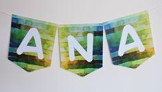 » BANDEIROLA em papel - corte especial. www.lonasdesign.com.