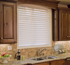 Fauxwood Blinds - 2 1/2 inch Performance Essentials P003 Silk White