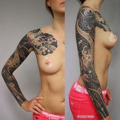 Women also rock Japanese sleeves! By Slava Starkov.