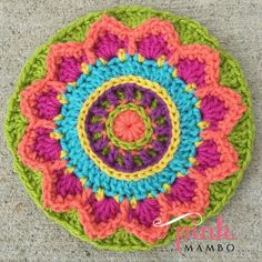 Dream Circle 12″ Crochet Square and Mandala