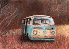 furgoneta abandonada por jezulini-del-pepino - Escenas | Dibujando.net