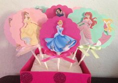 Disney Princess Cupcake Toppers  Set of 12 by YourPartyShoppe