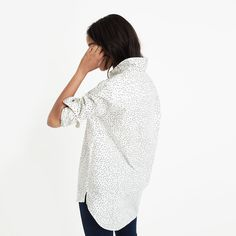 Oversized Ex-Boyfriend Shirt in Dot Scatter : button-up & popover shirts | Madewell