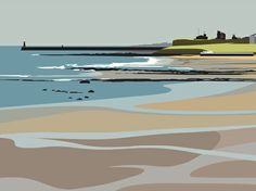 We have a large collection of prints from the North East England. Landscape Art, Landscape Paintings, Gravure Photo, Travel Posters, Digital Illustration, Painting & Drawing, Illustrations, Prints, Newcastle Gateshead