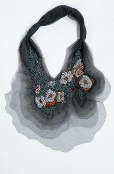 Amazing tulle and bead necklace. By Akira Isogawa.