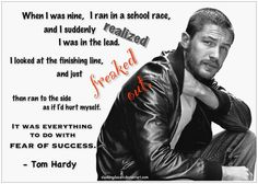 Tom Hardy: Fear of Success by SlashingDasani on DeviantArt