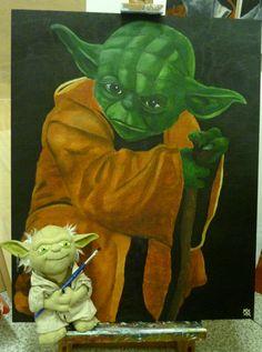 Painting myself I do. - Yoda -