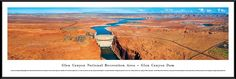 Glen Canyon Dam Panoramic Picture Framed