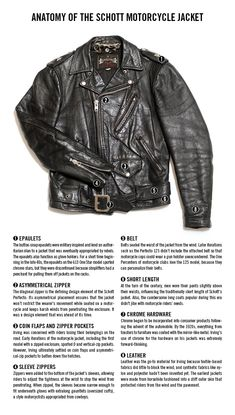 The Anatomy of the Schott Motorcycle Jacket