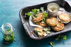 Spiced Indian potato and pea fritters (rotlo)