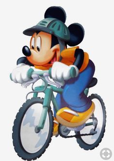 Mickey Mouse And Other Disney Characters Riding Bicycles. Walt Disney, Disney Toys, Disney Cartoons, Disney Art, Mickey Mouse Pictures, Mickey Mouse Art, Mickey Mouse And Friends, Disney Pictures, Mickey Mouse Wallpaper Iphone