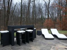 Love the outdoor furniture Justine picked out in Rev Run's Renovation!.