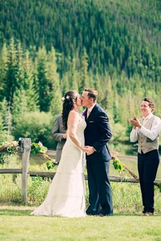 First Kiss as Husband & Wife at Ski Tip Lodge, Keystone Resort, CO… Keystone Resort, Keystone Colorado, Lodge Wedding, Summer Events, Old World Charm, Husband Wife, Rustic Chic, Real Weddings, Skiing